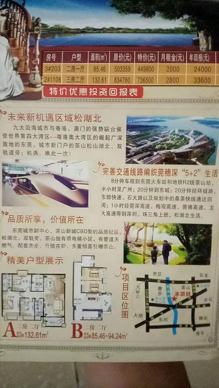 东莞茶山松湖首府13590183685